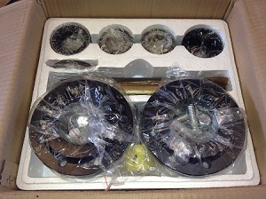 Complete kit to replace one pair of wheels